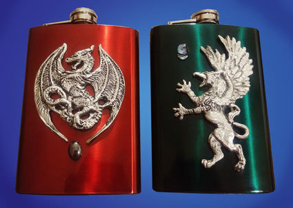 Dragon and Griffin Flasks