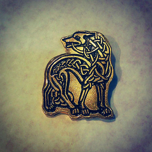 Celtic Greyhound Pin