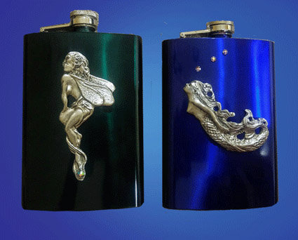 Fairy and Curved Mermaid Flasks