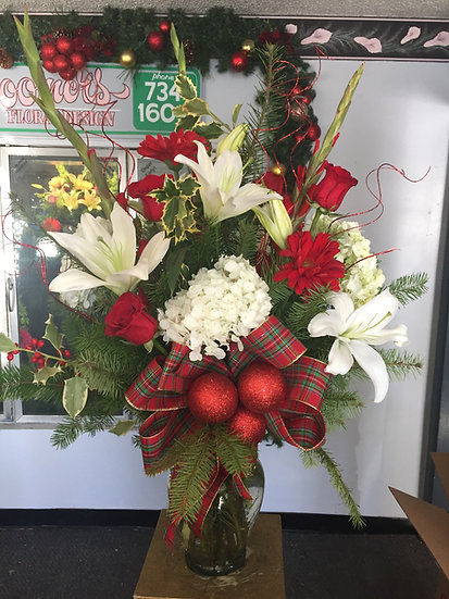 Large Holiday Vase