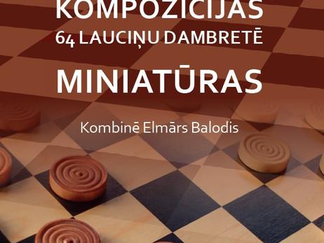 """J. Rūtiņš, E. Balodis, """"Kompozīcijas 64 lauciņu dambretē"""""""