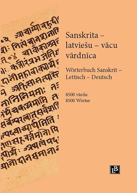 Sanskrita-latviešu-vācu vārdnīca. A burts