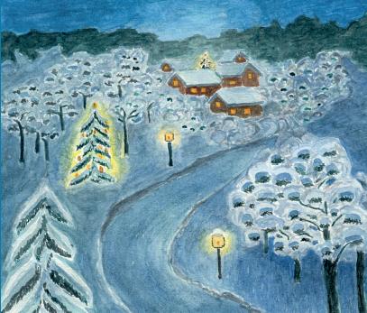 """Nora Blūmentāle, """"Ziemassvētku pilsēta"""""""