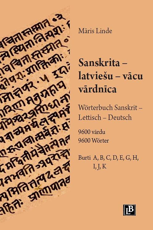 Māris Linde, Sanskrita – latviešu – vācu vārdnīca II
