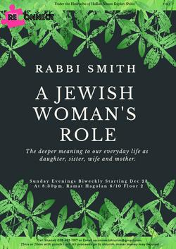 A JEWISH WOMAN'S ROLE