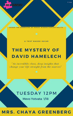 The Mystery of David Hamelech Text Based