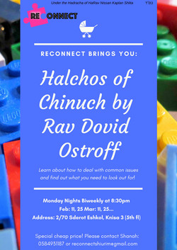 1Halchos of Chinuch by Rav Dovid Ostroff