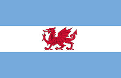 Flag of Welsh colony in Patagonia