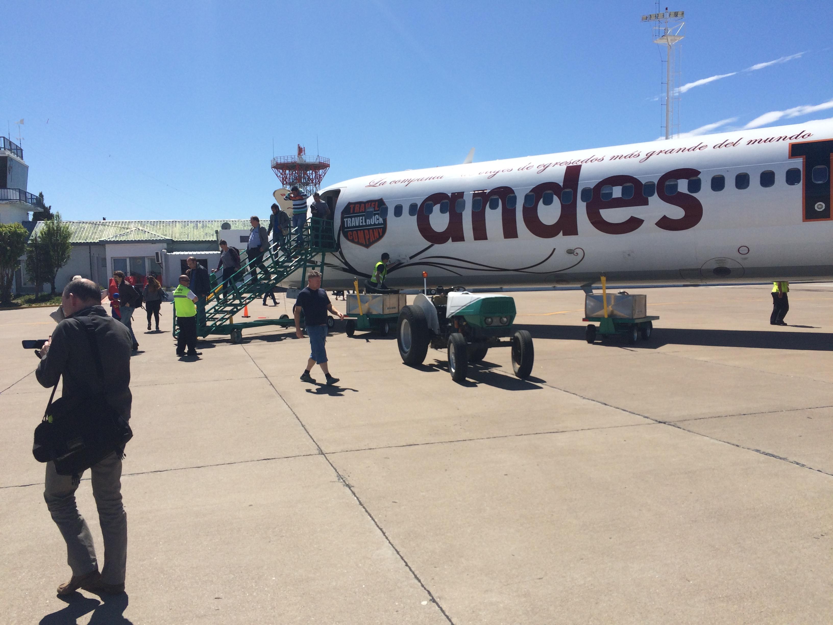 Landing at Puerto Madryn