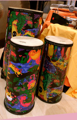 Colourful conga drums