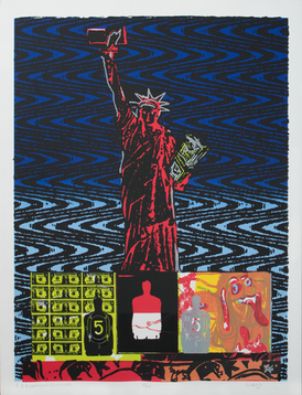 $$$AMERICAN GÜEY OF LIFE. 1992. Serigraph. 20 x 26 inches. 11/55. Gift of the Artist.