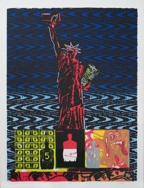 $$$AMERICAN GÜEY OF LIFE. 1992. Serigraph. 20 x 26 inches.  12/55. Private Collection.