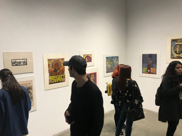 "Opening reception at SDSU Downtown Gallery of ""Chicano/a/x Printmaking: Making Prints and Making History – 50 Years of Art Activism"""