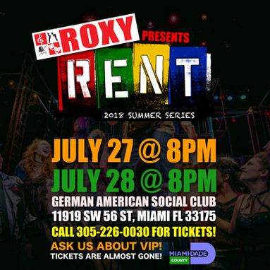 ROXY 2018 Summer Series Presents: RENT