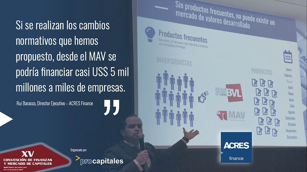 Convención Mercado de Capitales | Rui Baracco ACRES Finance | MAV