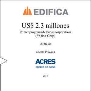 Financiamiento | EDIFICA | ACRES Agente de Bolsa | ACRES Finance