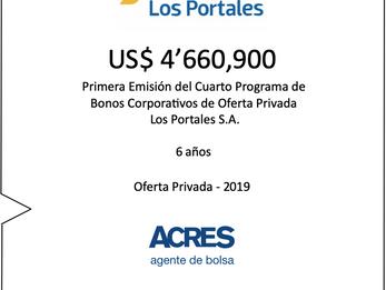 ACRES Agente de Bolsa colocó bonos de Los Portales por 4.66 millones de dólares