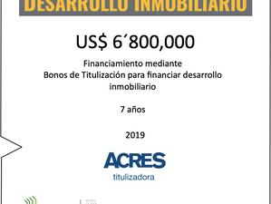 ACRES Titulizadora concreta financiamiento para desarrollo inmobiliario por USD 6.8 millones