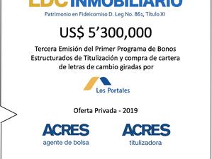 ACRES Titulizadora realiza emisión de bonosporUSD 5.3 millonespara financiar cuentas por cobrar