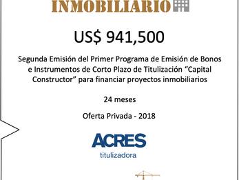 ACRES Titulizadora concretó financiamiento para proyecto inmobiliario por US$ 941,500