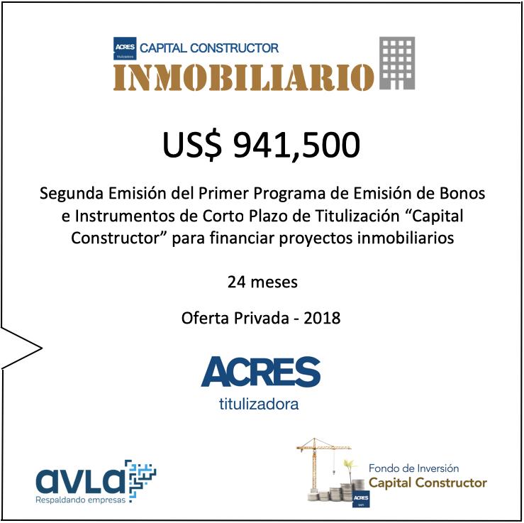 Financiamiento Capital Constructor Inmobiliario ACRES Finance