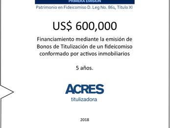ACRES Titulizadora y AVLA Peru implementaron financiamiento a 5 años por USD 600,000