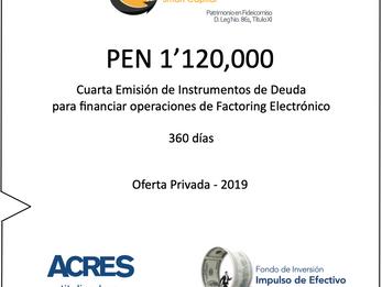 Fondo de ACRES SAFI invirtió 1.12 millones de soles para financiar factoring a MIPYMES