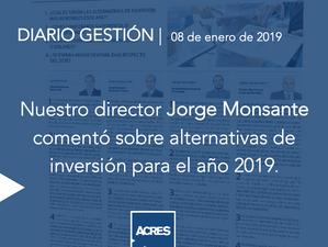 Diario Gestión: ACRES Finance sobre alternativas de inversión en el 2019
