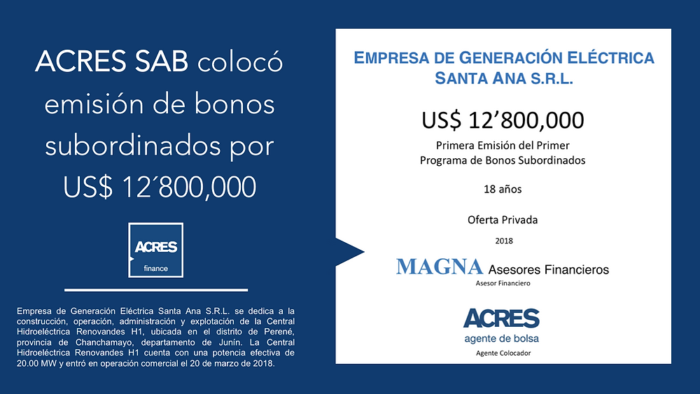 Financiamiento Mercado de Capitales | Generación Eléctrica | ACRES Finance