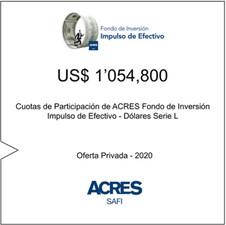 Fondo de ACRES SAFI emite cuotas de participación para financiar operaciones de factoring