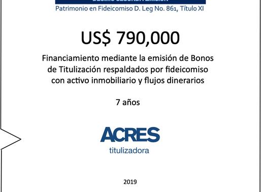 Fideicomiso de ACRES Titulizadora concreta financiamiento a 7 años