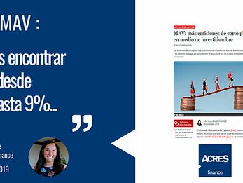 ACRES Finance comenta en Semana Económica sobre el MAV