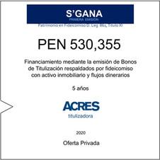 Fideicomiso de ACRES Titulizadora concreta financiamiento a 5 años por USD 530,355