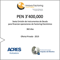 Fondo de ACRES SAFI invierte 3.4 millones de soles para financiar factoring a MIPYMES