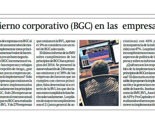 El Buen Gobierno Corporativo en las empresas peruanas