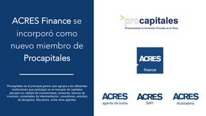 Procapitales | Mercado de Capitales | ACRES Finance | Gremio | Inversión