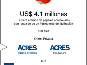 ACRES SAB captó financiamiento de USD 4.1 millones para ECOSAC
