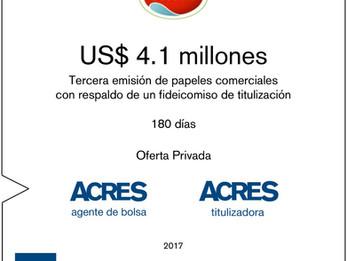 ACRES SAB captó financiamiento de USD 4.1 millones para ECOSAC