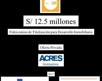 ACRES Titulizadora suscribió fideicomiso para desarrollo inmobiliario, con la participación del Banc