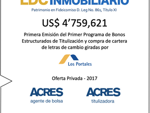 ACRES Titulizadora constituyó fideicomiso que invirtióUSD 4.8 millones en letras giradas por Los Po