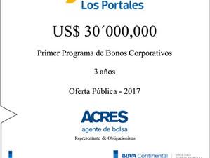 ACRES SAB participa en financiamiento de Bonos Corporativos de Los Portales por USD 30 millones