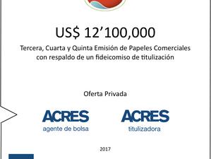 ACRES SAB colocó financiamiento por USD 12 millones para ECOSAC