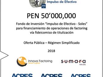 ACRES SAFI e Innova Factoring presentaron fondo de inversión de 50 millones de soles para financiar