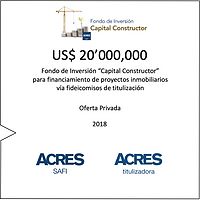 Fondo Capital Constructor ACRES SAFI