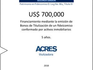Financiamiento por USD 700,000 fue implementado por ACRES Titulizadora y AVLA Peru