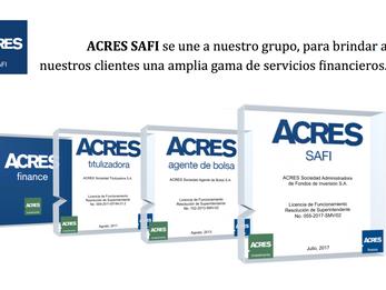 Una nueva empresa se une a nuestro grupo: ACRES SAFI