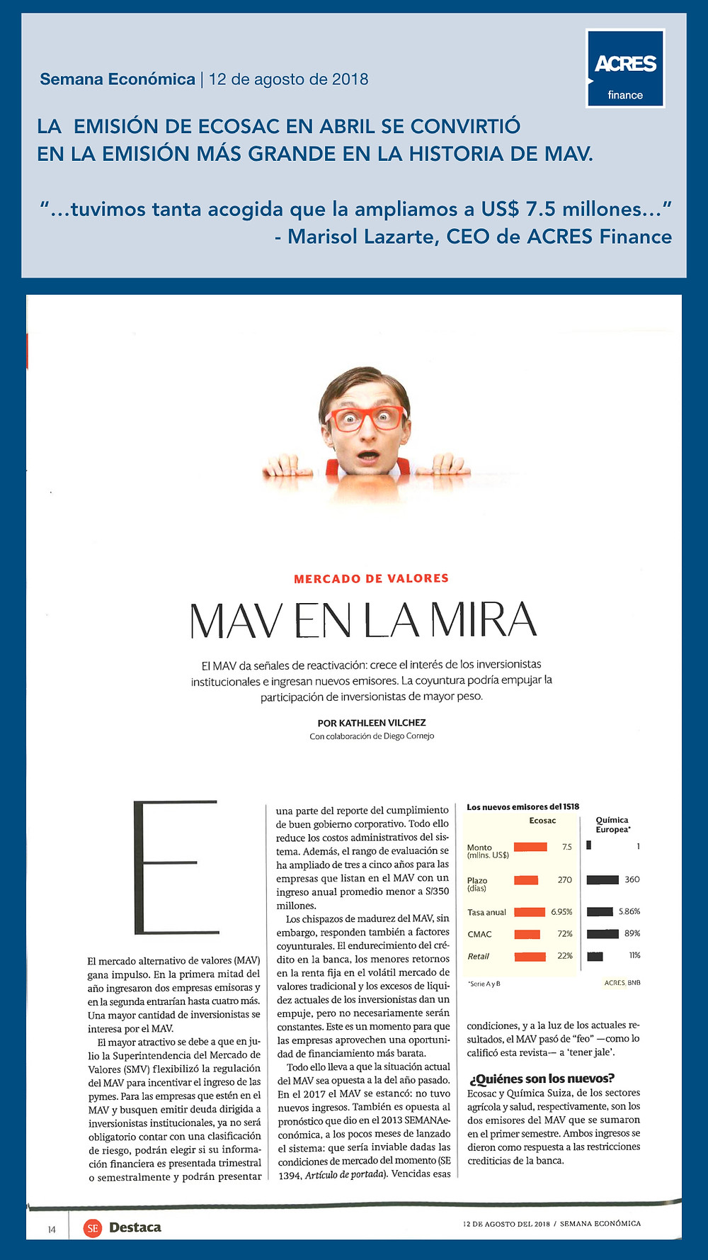 Semana Económica | ACRES Finance | MAV