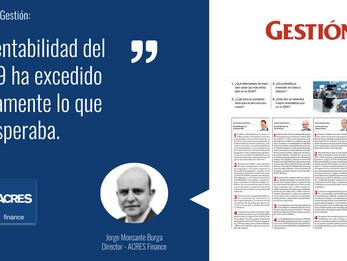 """ACRES Finance en Gestión: """"La rentabilidad del 2019 ha excedido largamente lo esperado."""""""