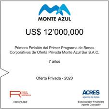 ACRES Agente de Bolsa colocó bonos corporativos de Monte Azul por 12 millones de dólares