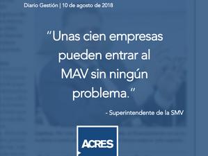 """SMV: """"Unas cien empresas pueden entrar al MAV sin ningún problema."""""""